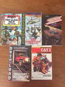Variety of small action paperbacks.... reduced