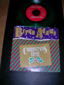 "Record. Green Vinyl ""Bryan Adams"" 1985 ""Christmas Time"""