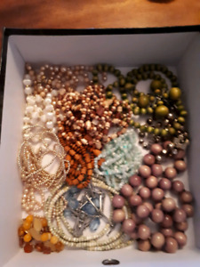 Box of bead necklaces