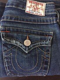 "Ladies True Religion Jeans 27"" waist"
