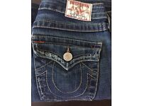 "Ladies True Religion Jeans 27"" waist"