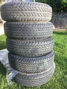 light duty truck or car tires set of five P 245/75R16