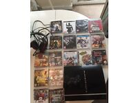 PS3 bundle with 17 games and a headset.