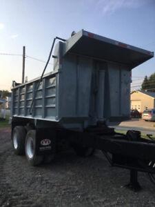 trailer boîte de 10 roues banneau