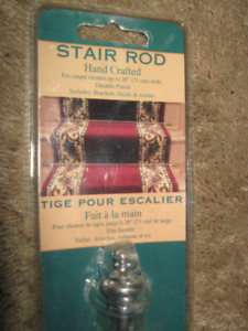 4 SOLID BRASS CHROME FINISH STAIR RODS($10 EACH)