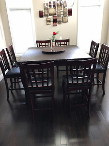 10-Piece Square Dining Table & Chair Set (Bar Height)