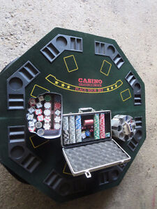 Poker table and chips.