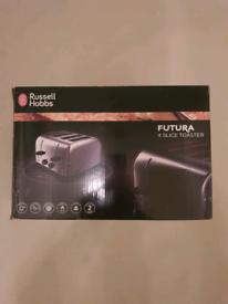 Brand new russell hobbs futura 4 slice toaster