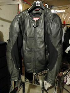 Icon overlord leather motorcycle jacket XL