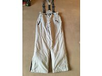 Ladies ski or snow boarder salopette trousers