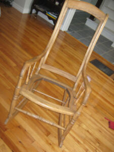 Solid hardwood  rocking chair frame