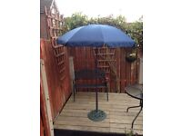 NAVY PATIO UMBRELLA 5'6""
