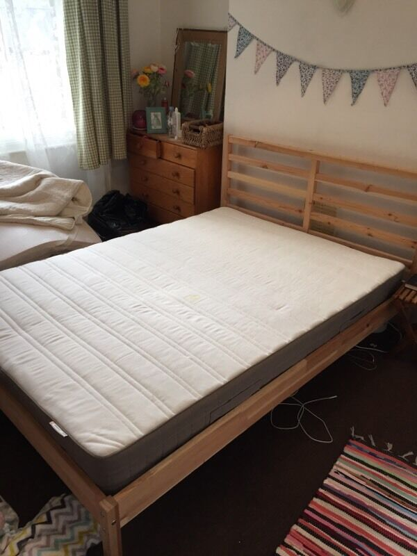 Ikea Tarva Double Bed Frame And Ikea Mattress 1 Year Old 163
