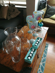 Vases and candle holders