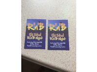 2 tickets to old Skool r n b at fox hall community centre