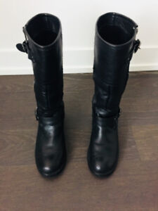 ADLO Black Real Leather Boots $70