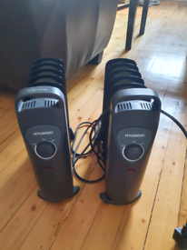 Two Hyundai Oil Filled Plug In Heaters