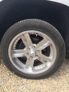 """20"""" Chrome Rims and tires x 4"""