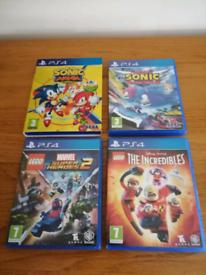 Bundle of PS4 Games x 4
