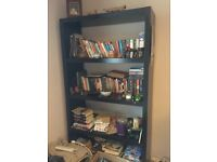 Large black Ikea bookcase