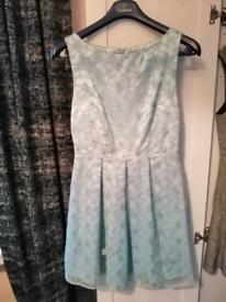 Miss selfridge pale blue dress (size 8)