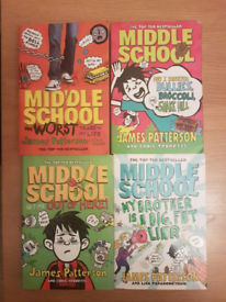Set of middle school books
