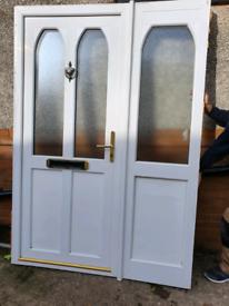 UPVC Door and Sidescreen. White