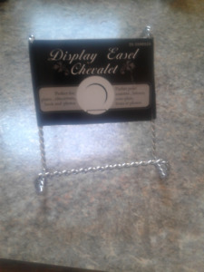 21 silver Display Plate Easels