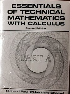 Essentials of technical mathematics with calculus textbooks
