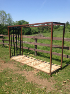 Cattle Squeeze frame and  head gate for sale