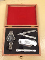 Tool Worx Watch, Flashlight, Pocket Knife, Pocket Tools 4 Set K