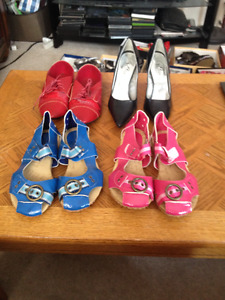 4 Pairs of size 7 Brand New Ladies Shoes. Sold as a complete set