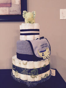 Custom made Diaper Cakes by Ava May Diaper Cake Co.