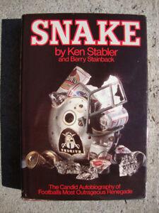 Snake ....Oakland Raiders Football Book...by Ken Stabler