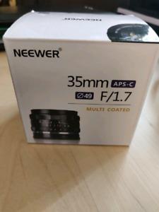 Neewer 35mm f/1.7 manual focus prime lens