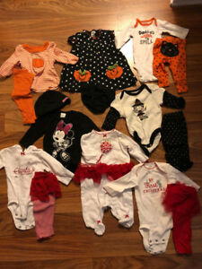 Girls Size 0-3 Seasonal Outfits
