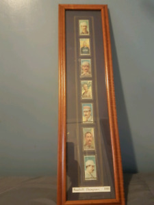 1888 Vintage baseball cards in frame ( reprints )