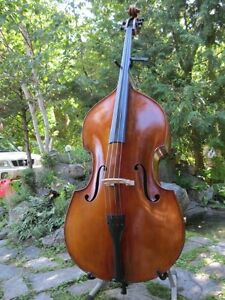 Antique German double bass - fully carved