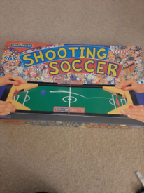 Shooting soccer game, as new