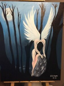 Oil painting - Thinking Angel