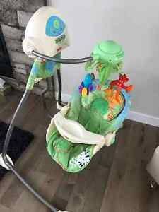 Fisher Price swing and matching crib mobile