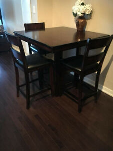 Kitchen Table with 4 Chairs - Counter Height - Condo Size