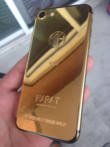 iPhone 7 32GB 24kt Gold Plated Limited Edition - Unlocked $550