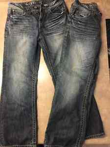 2 pair 30/30 Warehouse 1 jeans