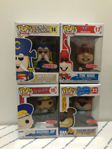 Funko POP! Ad Icons Capt Crunch Noid Bazooka Joe Sugar Bear