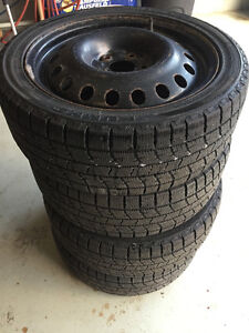 215/45 R17 KUMO ICE POWER WINTER TIRES AND RIMS