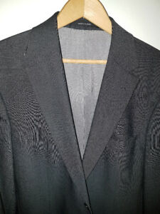 LV Harry Rosen Hugo Boss Mens Italy Suit Blazer Virgin wool