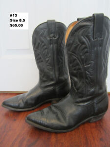"""Leather Cowboy Boots size 8.5    """"13"""