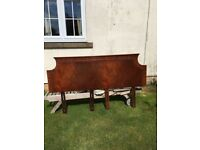 John Lewis 6ft Mahogany Headboard, with brackets attached.