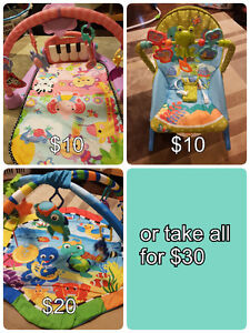 FOR QUICK SALE! Piano gym mat, chair, baby einstein play gym